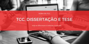 TCC, Monografias, Dissertação de Mestrado e Tese de Doutorado